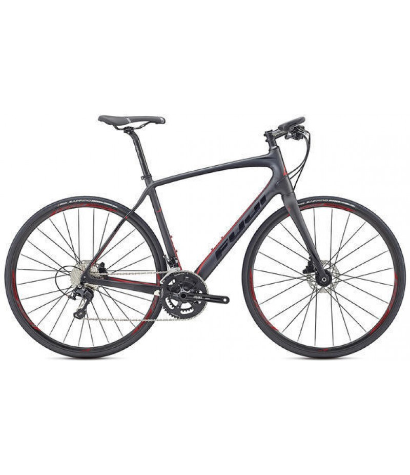 Fuji Gran Fondo Forza 1.1 Disc Flat Bar Road Bike - 2017 Road Bikes